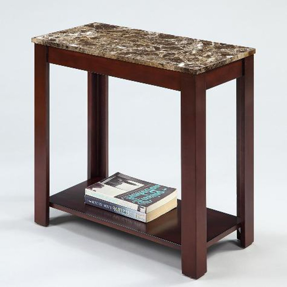 devon chairside end table with marble style top kitchen pipe