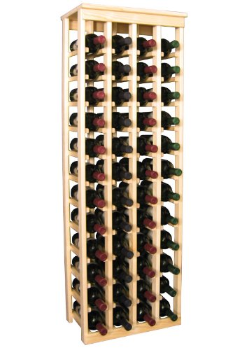 Kitchen Wine Rack 48 Bottle In Pine Kitchen Pipeline