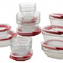 Rubbermaid Easy Find Lid Glass Food Storage Set