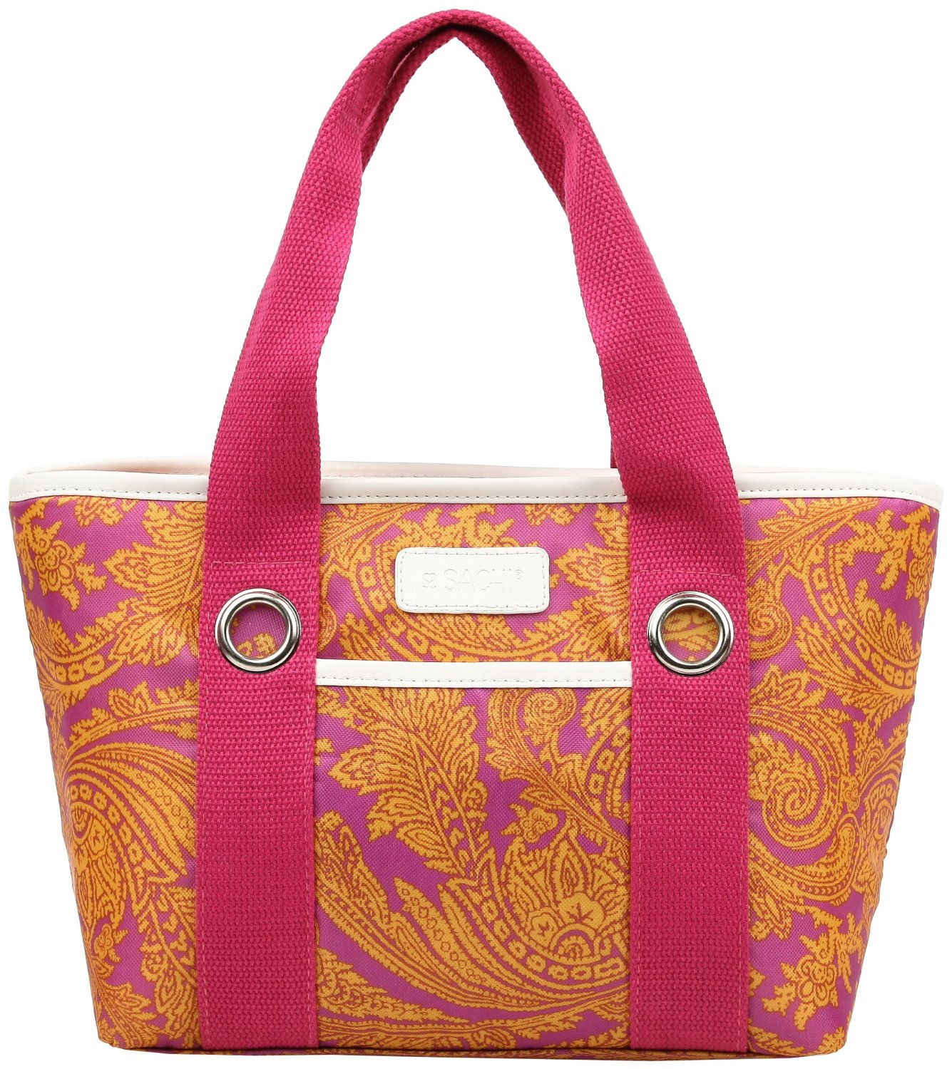 Sachi pink insulated fashion lunch tote 67