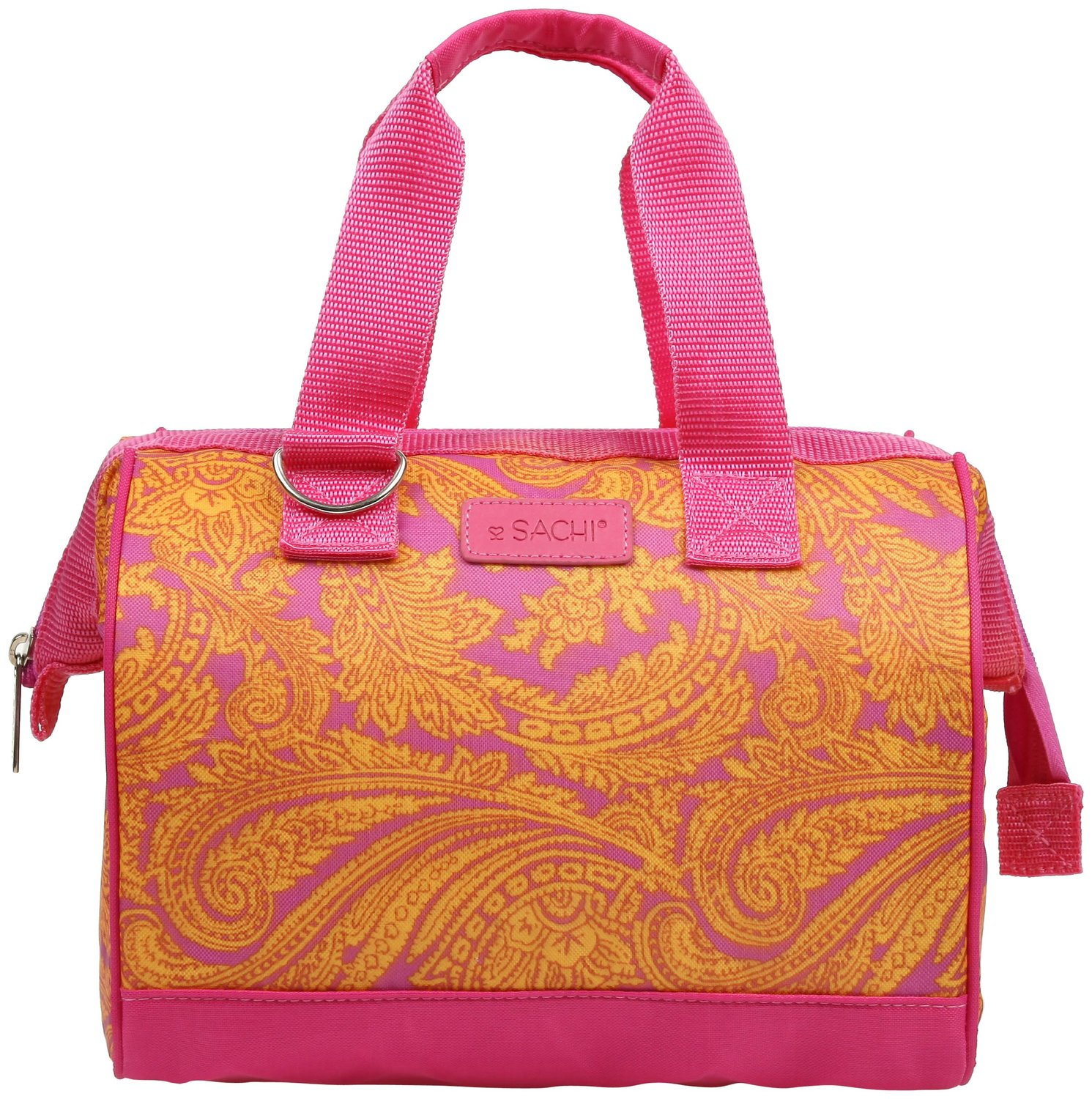 Sachi pink insulated fashion lunch tote 74
