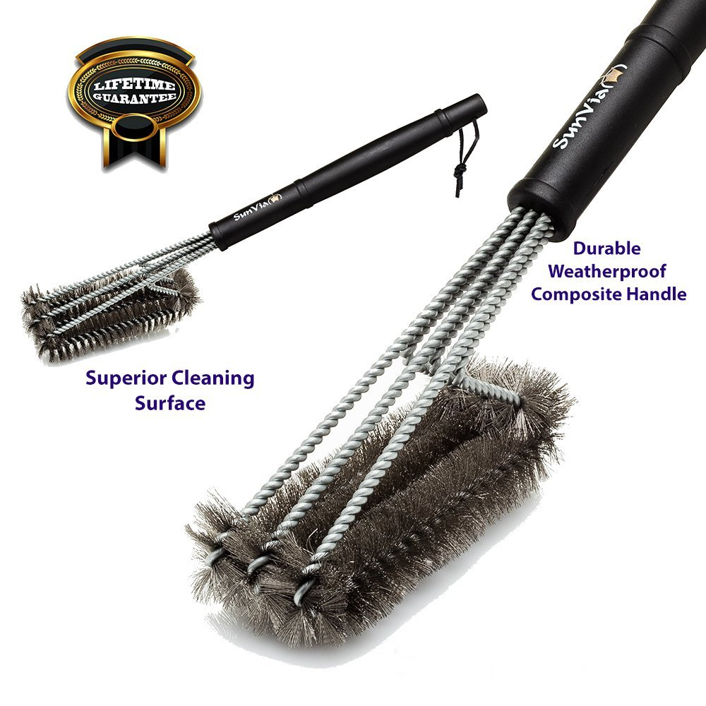 Safe Grill Brush Stainless Steel Grill Cleaner Cleans Your BBQ