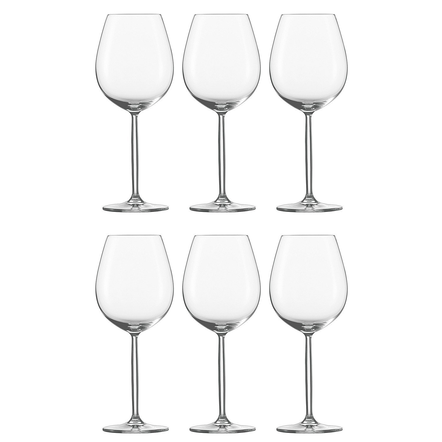 schott zwiesel set of 6 diva all purpose wine glasses kitchen pipeline. Black Bedroom Furniture Sets. Home Design Ideas