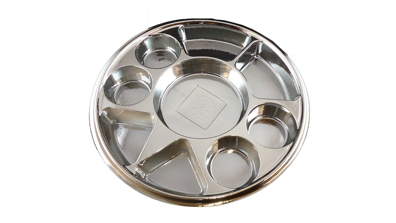 Silver 9 Compartment Disposable Plastic Plate - 50 Plates-051179220645  sc 1 st  Kitchen Pipeline & Silver 9 Compartment Disposable Plastic Plate - 50 Plates ...