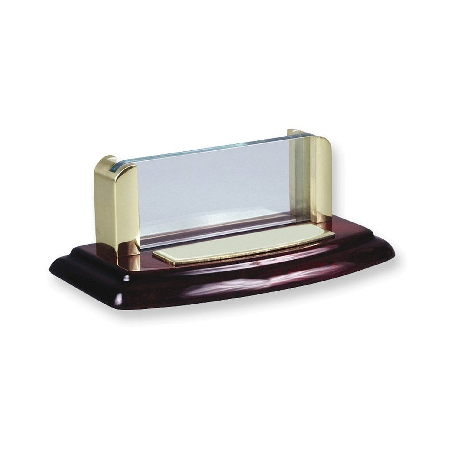 Wood And Acrylic Business Card Holder Desk Accessory