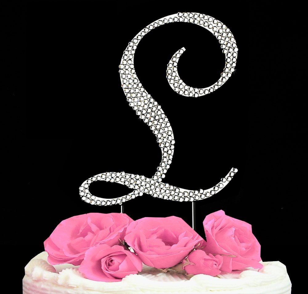 swarovski crystal monogram wedding cake toppers letter letter l swarovski monogram wedding cake topper 20676
